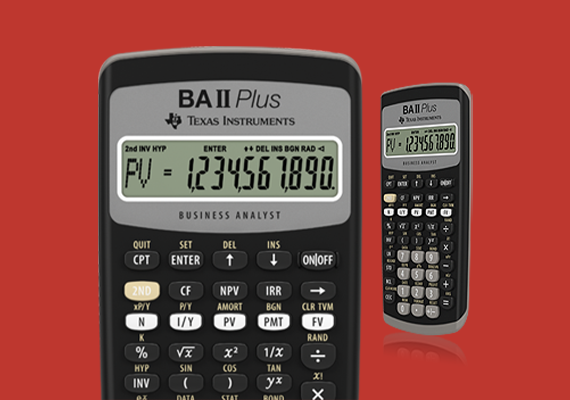 BA II Plus financial calculator